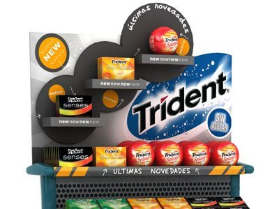 Trident pdv trdemarketing packaging - Diseño de expositor para PDV