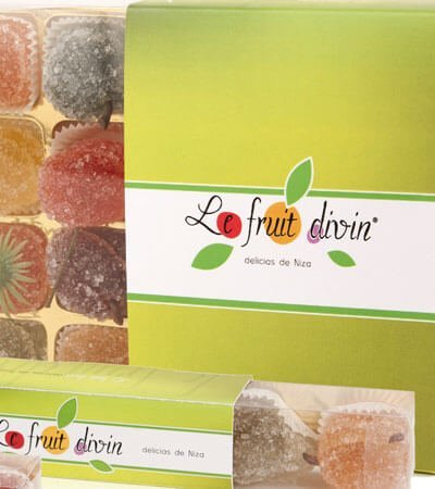 le fruit divin gom choc packaging - Creación de branding y packaging para alimentación