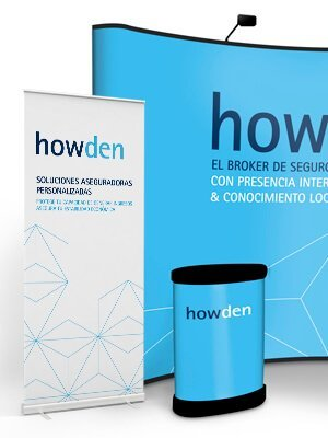 UBK Howden marketing evento popup estructura - Stand. Esdeveniments. Disseny gràfic. Howden