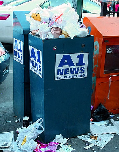 trash news