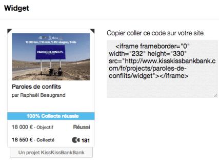 widgets crowdfunding - mediaculture.fr