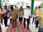 Menteri Agama dan Gubsu masuki gedung gelanggang UIN Sumut