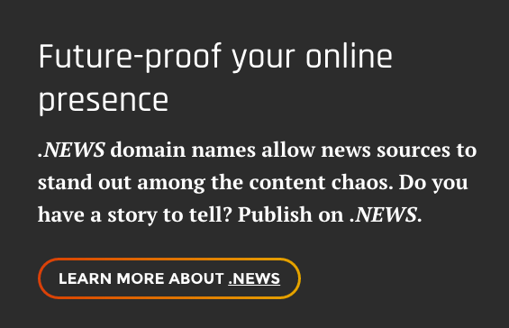 "An in-site ad urging users to ""future-proof"" their online presence."