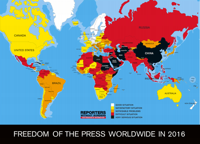 Freedom of the Press Index/Reporters Without Borders