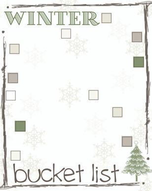 fill in the blank winter bucket list