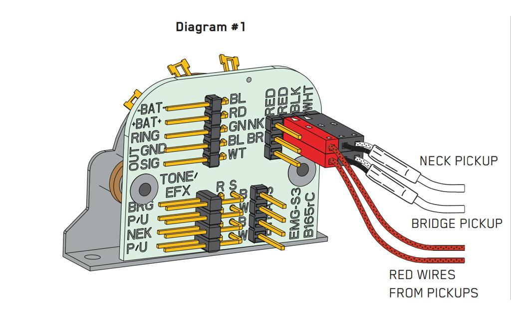 emg select pickup wiring diagram 2017 ford ranger spotlight solderless 3 way bass ~ elsalvadorla