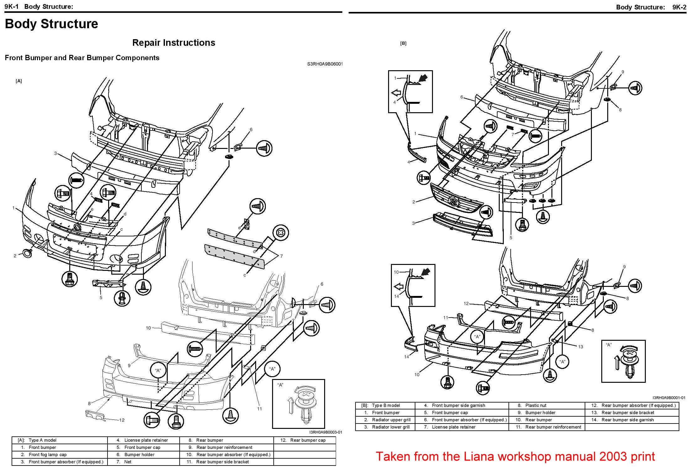 Service manual [How To Remove Rear Bumper 2003 Suzuki