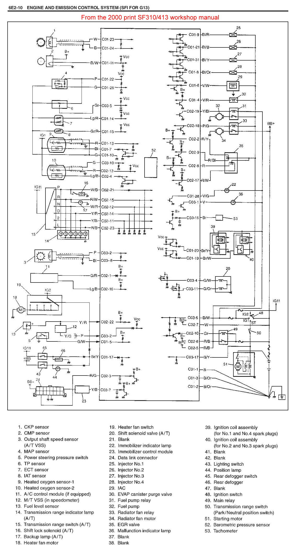 Injector Wiring Schematics (1999 Swift 1.3lt engine
