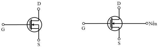 Ký hiệu MOSFET kênh có sẵn