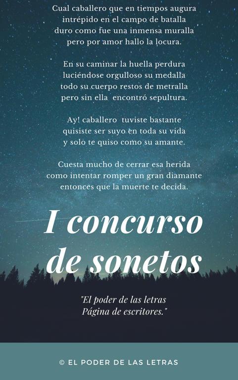 I concurso de sonetos