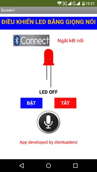 Giao diện ứng dụng điều khiển thiết bị bằng giọng nói