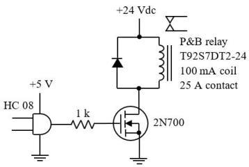 Mạch điều khiển relay dùng MOSFET
