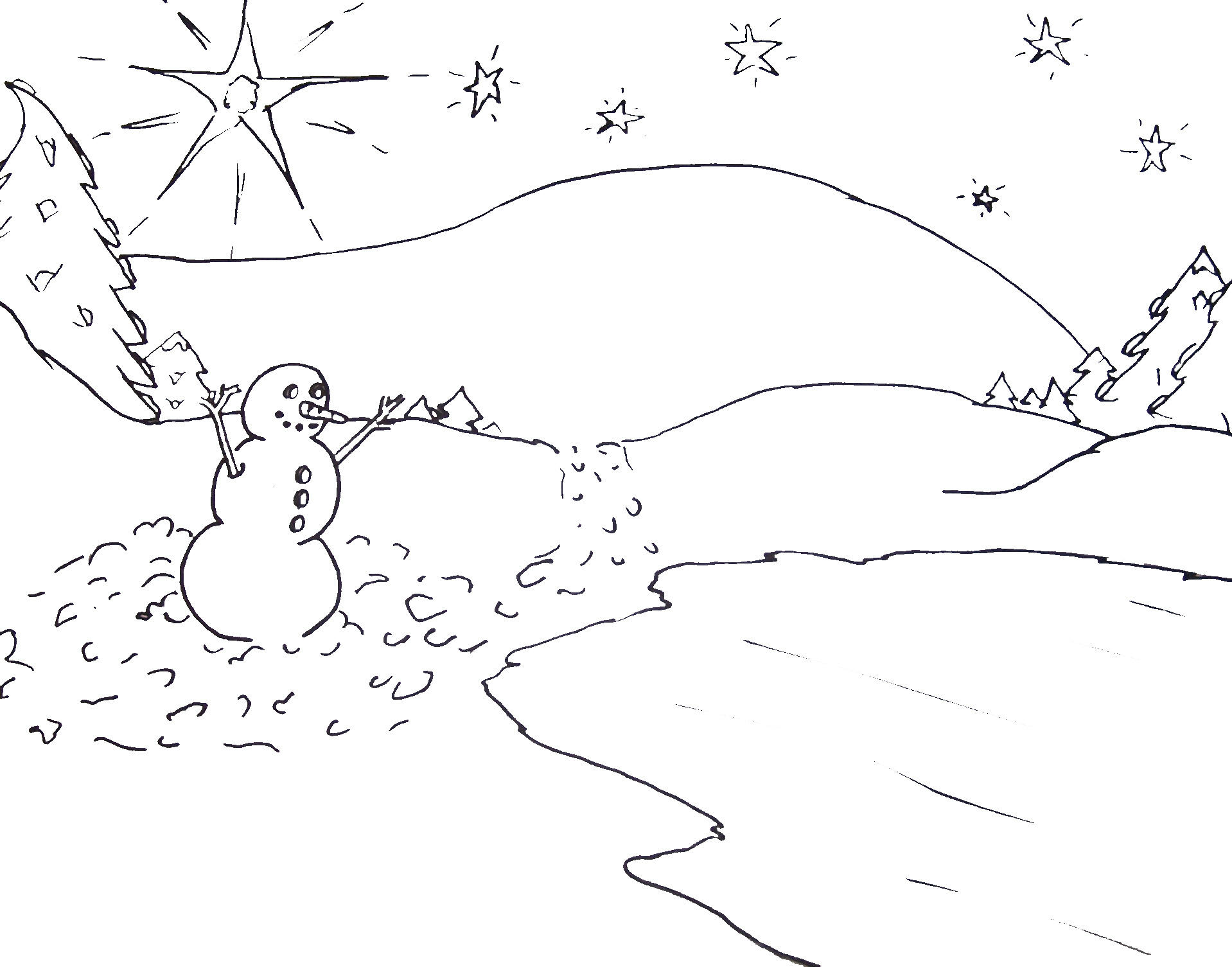 Free Printable Christmas Tree And Santa Coloring Pages