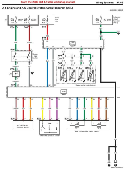 small resolution of sx4 ddis glow plug module relay suzuki forums suzuki forum site you this is about all the info i can find on a glow plug diagram