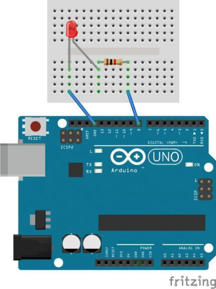 Mạch điều khiển đèn led dùng Arduino