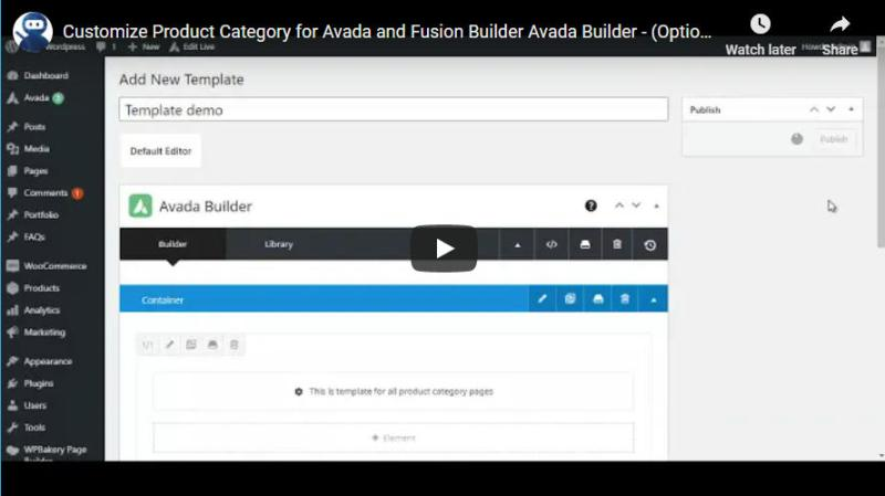 Customize Product Category for Avada and Fusion Builder - 1