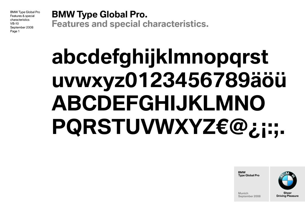 Anyone have official BMW typeface?
