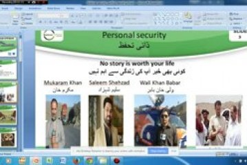 """Webinar on """"Journalist Security and conflict reporting"""" 14-03-2015"""