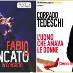 Ceriale: concerto di Fabio Concato e teatro con Corrado Tedeschi