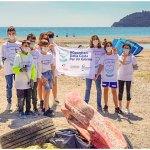 Spiaggia pulita con l'Interact Albenga