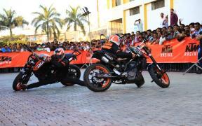 KTM organize Stunt Show in Delhi