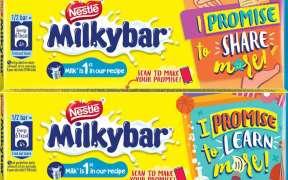 Nestlé Milkybar and Milkybar Moosha will carry promises of goodness