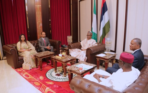 PRESIDENT BUHARI RECEIVES LETTERS OF CREDENCE FROM HC BANGLADESH, AMB GREECE AND PORTUGAL JAN 18 2018