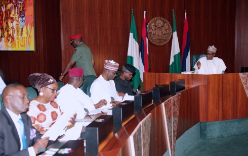 PRESIDENT BUHARI PRESIDES OVER FEC MEETING. MAR 7 2018.
