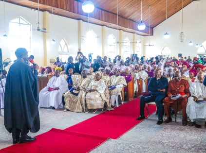 VP Osinbajo, SAN, attends 90th birthday anniversary service of Chief Ayo Adebanjo