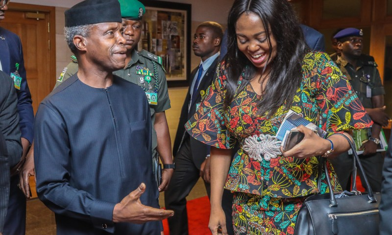 VP launched the Nigerian Economic Diplomacy Initiative 5th April 2018.