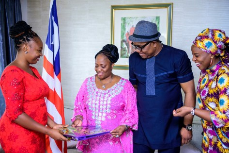 LIBERIAN VICE PRESIDENT RECEIVES SHE FORUM AFRICA. APRIL 20, 2018