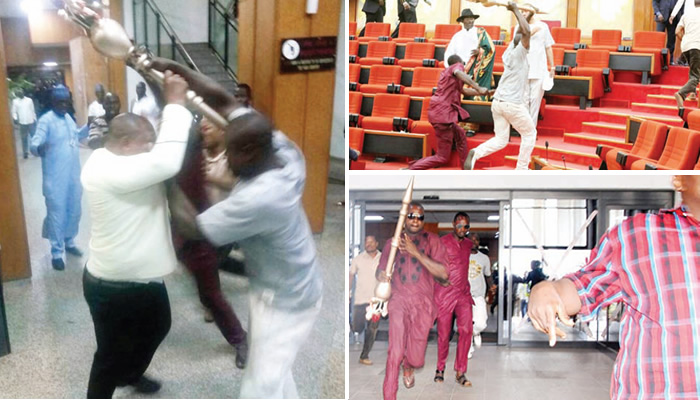 Shock, anger as thugs invade Senate, escape with mace