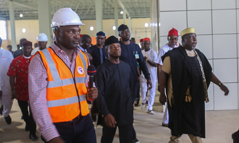 Vice President Yemi Osinbajo, SAN, inspects on-going International Cargo Airport in Owerri, Imo State.. 22nd September, 2018.