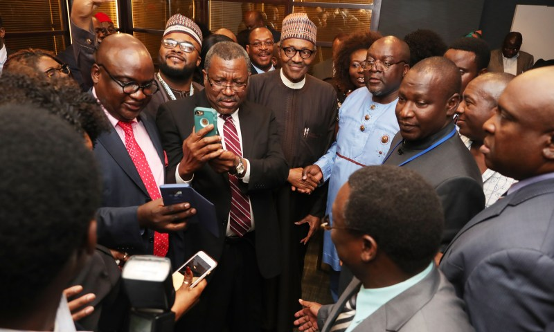 President Muhammadu Buhari interactive session with Nigerians in Diaspora side event during the UNGA73 IN NEW YORK.  PHOTO; SUNDAY AGHAEZE. SEPT 27 2018