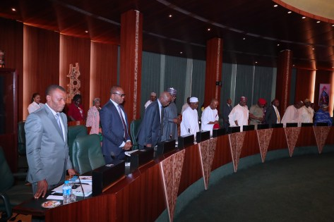 PRESIDENT BUHARI PRESIDES OVER FEC MEETING.
