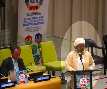 WIFE OF THE PRESIDENT MRS. BUHARI SPEAKS AT A MEETING TO FIGHT TB SEPT 26 2018