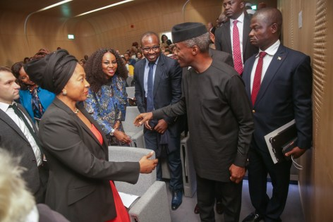 Vice President Yemi Osinbajo, SAN, speaks at Oxford University