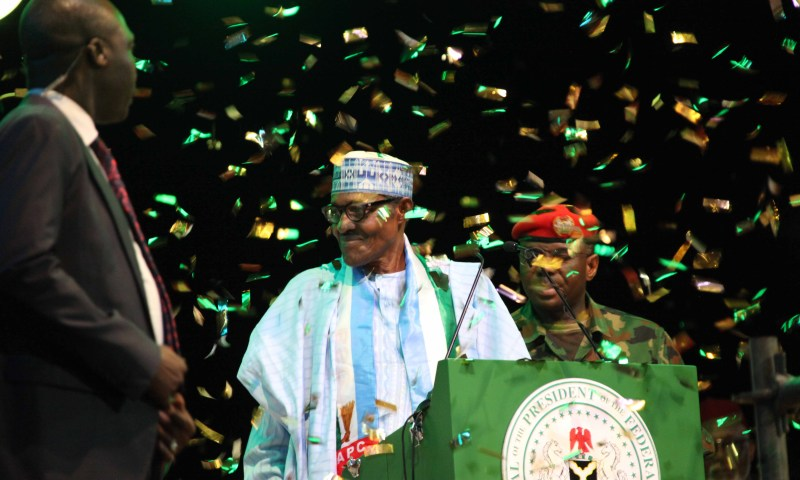 PRESIDENT MUHAMMADU BUHARI AT THE APC CONVENTION SET FOR THE 2019 PRESIDENTIAL RE-ELECTION HELD AT THE EAGLE SQUARE IN ABUJA.
