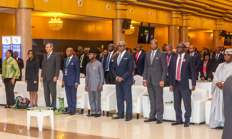 VP Osinbajo declares open the 22nd African Securities Exchanges Association (ASEA) Conference, 2018 in Lagos. 26th November, 2018.