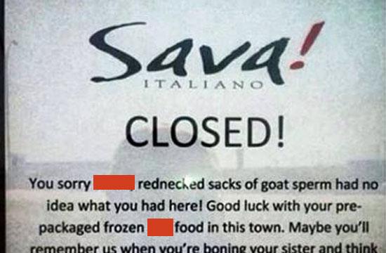 closed restaurant calls former