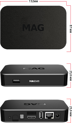 MAG 349 W3 IPTV Set-Top Box