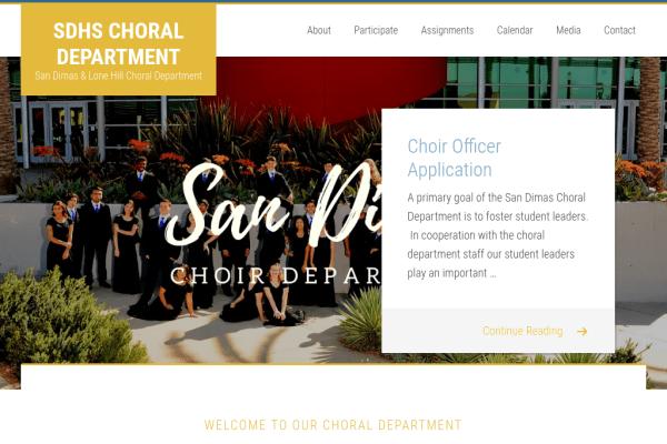 San Dimas Choir Department