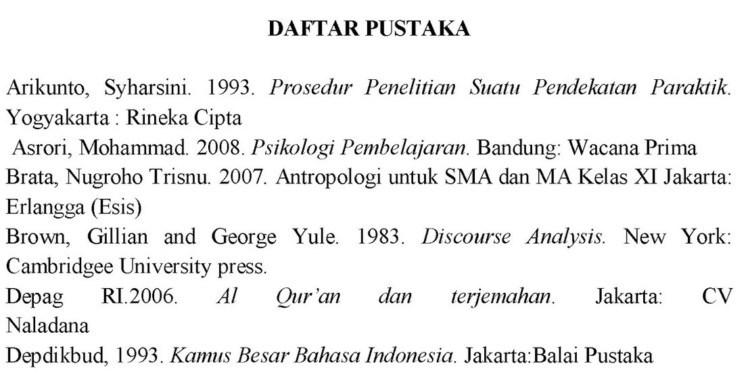 daftar pustaka makalah