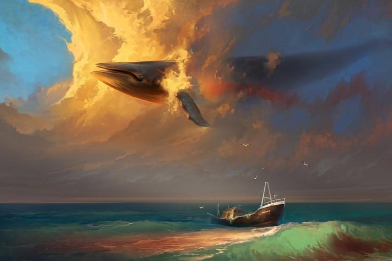 Gambar Pemandangan Laut Kartun