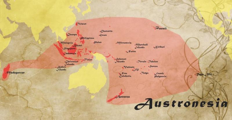 bendera merah putih Budaya Austronesia