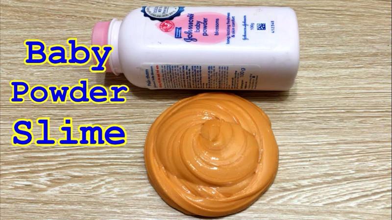 cara membuat slime dengan bedak bayi