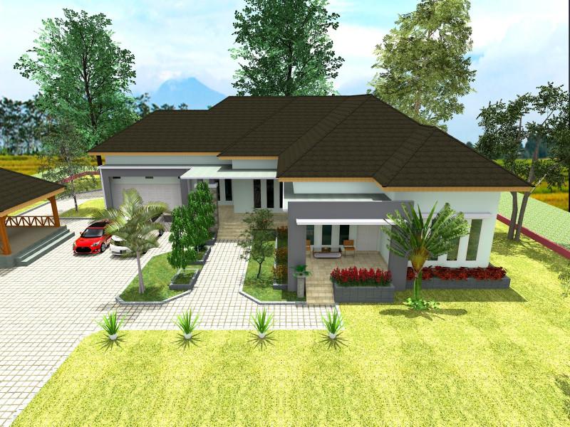 rumah minimalis berkonsep pedesaan