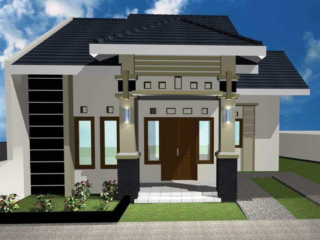 rumah minimalis hitam putih