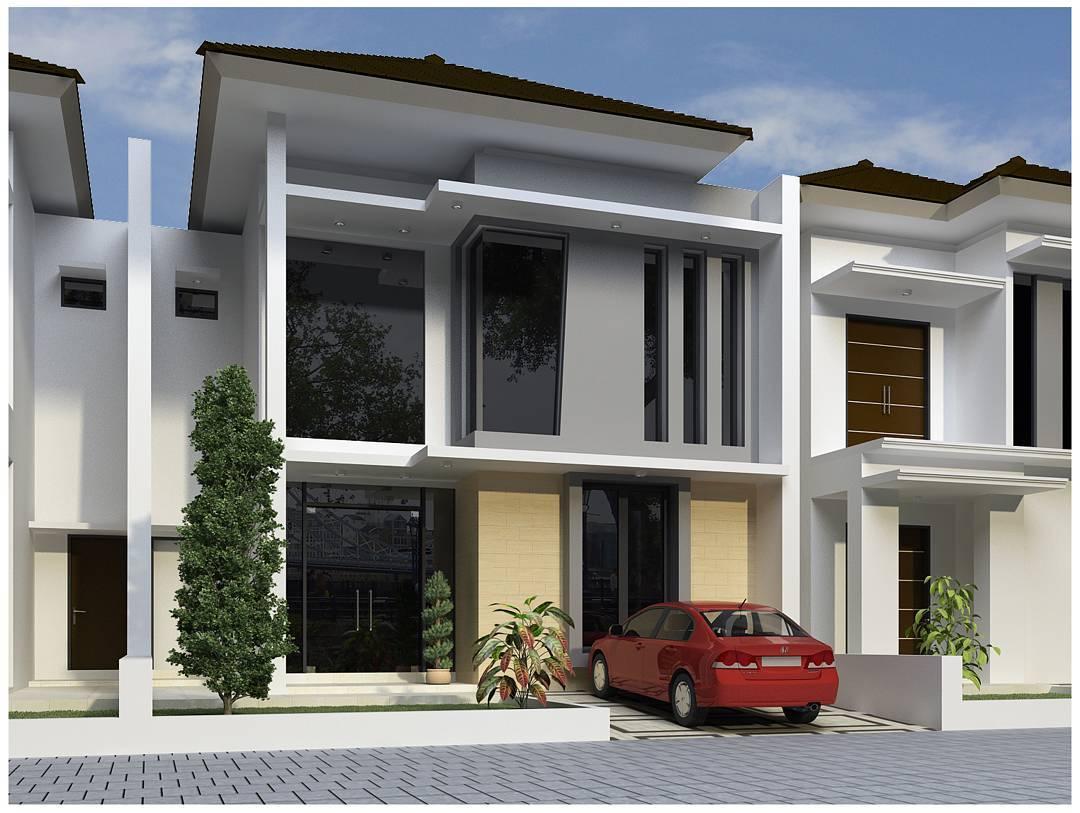 rumah minimalis jendela panjang