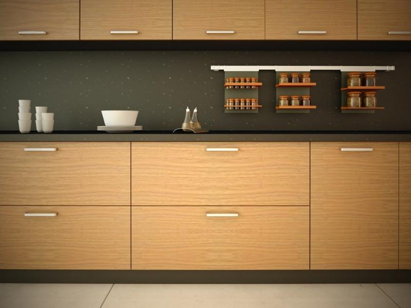 Kabinet Kayu dapur minimalis